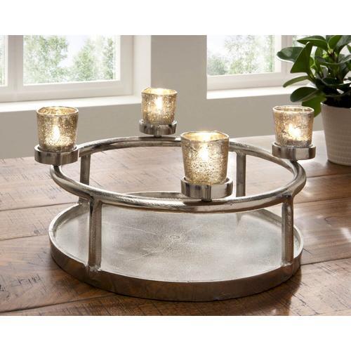 die Faktorei Kerzenständer-Schale inkl. 4 Teelicht-Gläser