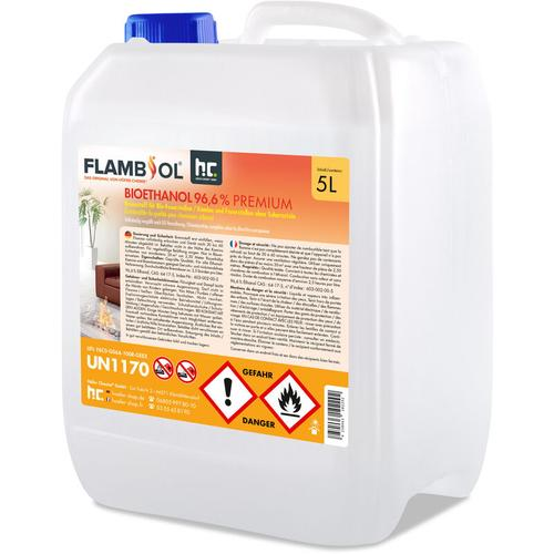 4 x 5 Liter Bioethanol 96,6% in 5 L Kanistern