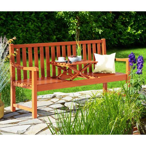 Casaria Gartenbank Picknick Tisch FSC®-zertifiziertes Eukalyptusholz hochklappbarer Tisch Holzbank