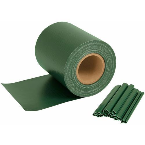 Sichtschutzstreifen für Doppelstabmatten, 70 m x 19 cm, grün