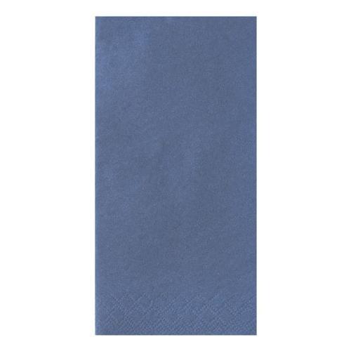 3-lagige Servietten einfarbig 1/8 Falz blau, Papstar, 40x40 cm