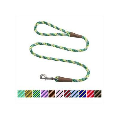 Mendota Products Large Snap Striped Rope Dog Leash, Ivy, 6-ft long, 1/2-in wide