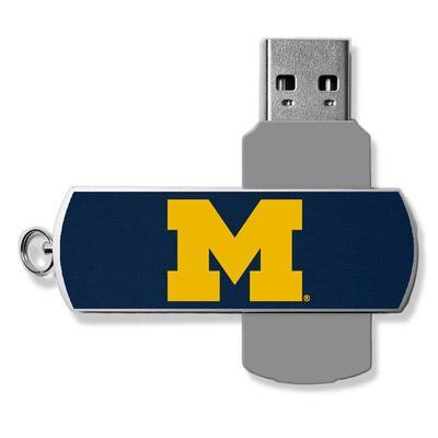Michigan Wolverines 32GB Metal Twist USB Flash Drive