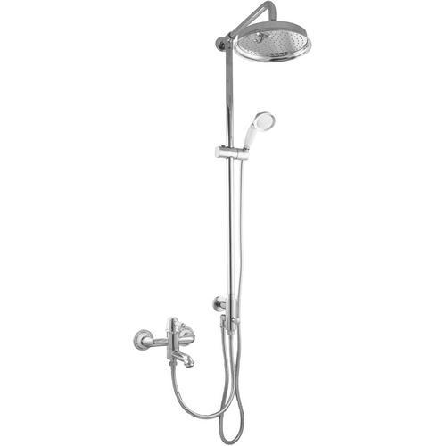 Aufputz Duschsystem für Badewannen Regendusche Nostalgie Retro