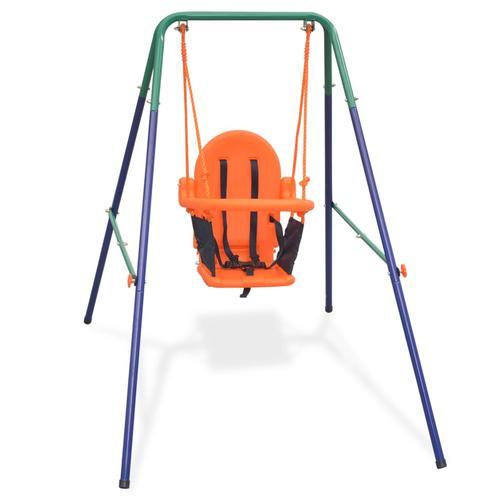vidaXL Kleinkinder-Schaukelset mit Sicherheitsgeschirr Orange