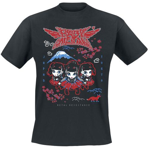 Babymetal Pixel Tokyo Herren-T-Shirt - schwarz - Offizielles Merchandise