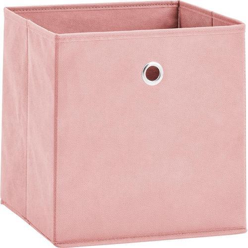 Zeller Present Aufbewahrungsbox, (Set, 2 St.), faltbar und schnell verstaut rosa Körbe Boxen Regal- Ordnungssysteme Küche Ordnung Aufbewahrungsbox