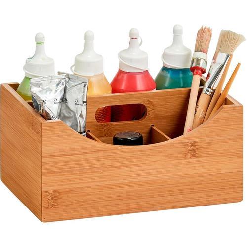 Zeller Present Aufbewahrungsbox, m. Griff beige Körbe Boxen Regal- Ordnungssysteme Küche Ordnung Aufbewahrungsbox