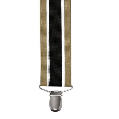 Haband Men's Dressy Suspenders, Black Stripe, -