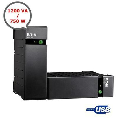 Onduleur Protection 8 PC USB Protection Parafoudre 1200 / 750 (VA/Watts) Eaton Eco
