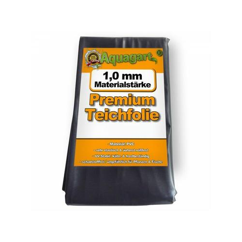 Aquagart - Teichfolie PVC 4m x 6m 1,0mm schwarz Folie für den Gartenteich