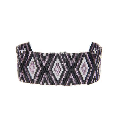 leslii Armband, mit Rauten-Muster schwarz Damen Armbänder Schmuck Armband