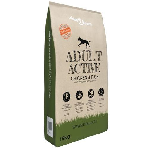 vidaXL Premium-Trockenhundefutter Adult Active Chicken & Fish 15 kg