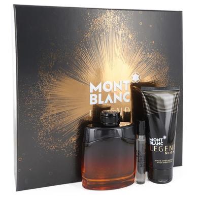 Montblanc Legend Night For Men By Mont Blanc Gift Set - 3.3 Oz Eau De Parfum Spray +.25 Oz Mini Edp