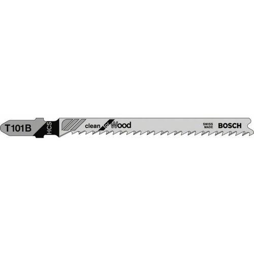 Bosch - Stichsägeblatt T 101 B. Clean for Wood. 100er-Pack