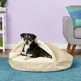 Snoozer Pet Products Microsuede Cozy Cave Dog & Cat Bed, Piston Sand, Large