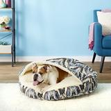 Snoozer Pet Products Microsuede Cozy Cave Dog & Cat Bed, Tempest Indigo, Large