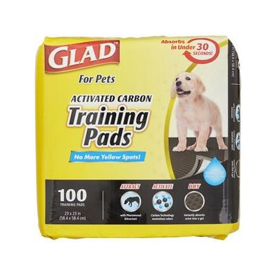 Glad For Pets Activated Carbon Dog Training Pads, 23 x 23, 100 count