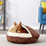 Snoozer Pet Products Microsuede Cozy Cave Dog & Cat Bed, Laurel Cayenne, Small