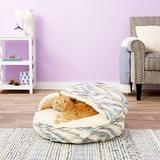 Snoozer Pet Products Orthopedic Microsuede Cozy Cave Dog & Cat Bed, Tempest Spring, Small