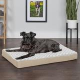 FurHaven NAP Deluxe Memory Foam Pillow Dog Bed w/Removable Cover, Cream, Medium