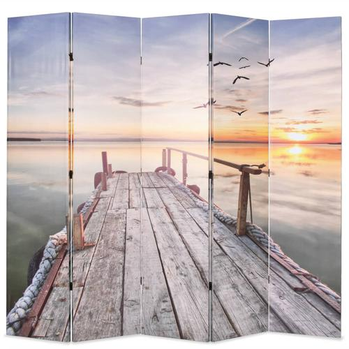 vidaXL Raumteiler klappbar 200 x 170 cm See mit Steg