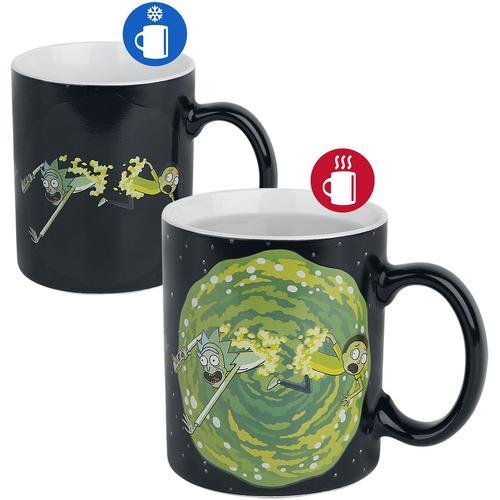 Rick And Morty Portal - Tasse mit Thermoeffekt Tasse - multicolor - Offizieller & Lizenzierter Fanartikel