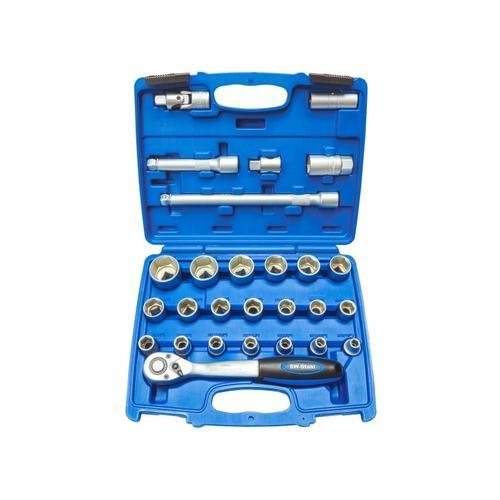 Steckschlüsselsatz 1/2 Zoll, 27-tlg.   SW-Stahl