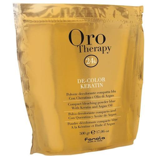 Fanola Oro Puro Therapy Color Keratin Blondierpulver blau 500 g Blondierung
