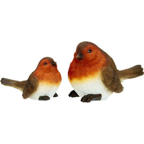 I.GE.A. Dekofigur, Polyresin-Vögel (2er Set) braun Dekofigur Tierfiguren Figuren Skulpturen Wohnaccessoires