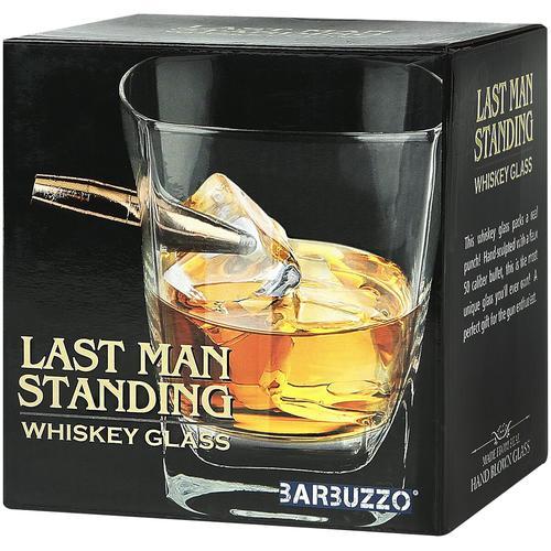 Last Man Standing Whiskey Glas Trinkglas - klar