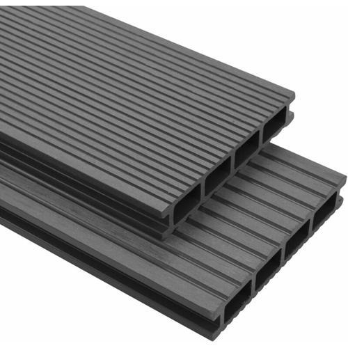 WPC Terrassendielen mit Zubehör 15 m² 4 m Grau