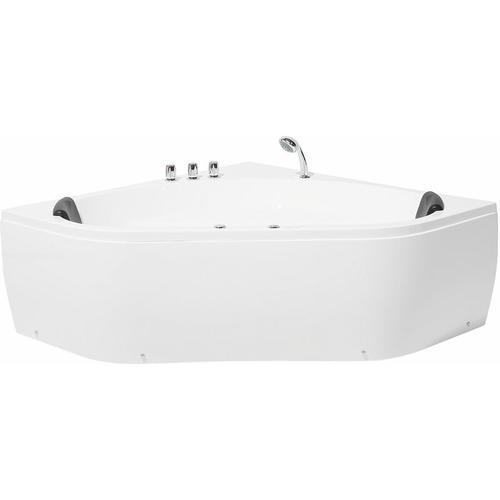 Badewanne Weiß mit Massagefunktion Sanitäracryl Modern