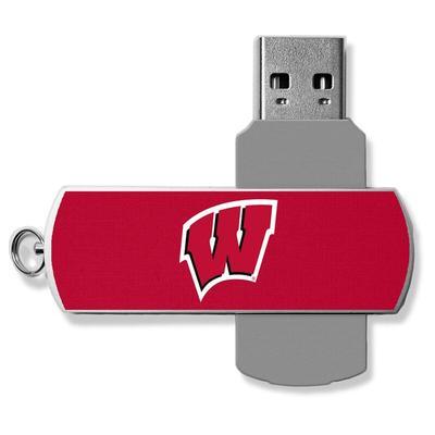 """""""Wisconsin Badgers 16GB Metal Twist USB Flash Drive"""""""