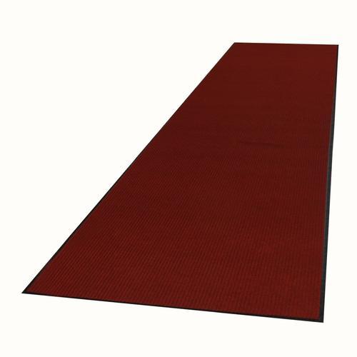 vidaXL Rutschfeste Fußmatte mit Vinyl-Unterseite 1,2 x 5 m Rot