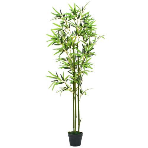 vidaXL Künstliche Bambuspflanze mit Topf 150 cm Grün