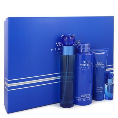 Perry Ellis 360 Very Blue For Men By Perry Ellis Gift Set - 3.4 Oz Eau De Toilette Spray + .25 Oz Mi