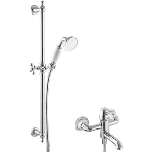 Nostalgie Duschset für Badewannen Einhandmischer