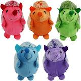 Multipet Hedgehog Squeaky Plush Dog Toy, Color Varies