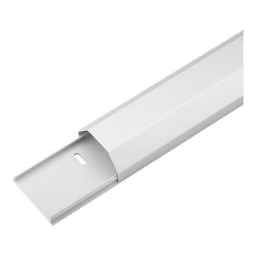 Halbrunder Kabelkanal 5 cm Breite weiß, goobay