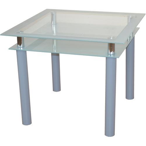 Esstisch TOM, Breite 90 cm silberfarben Esstische quadratisch Tische