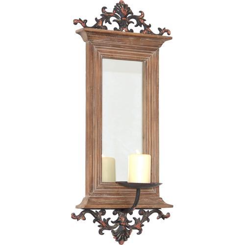 HOFMANN LIVING AND MORE Kerzenhalter, Maße (B/T/H): 26/15/56 cm braun Kerzenhalter Kerzen Laternen Wohnaccessoires