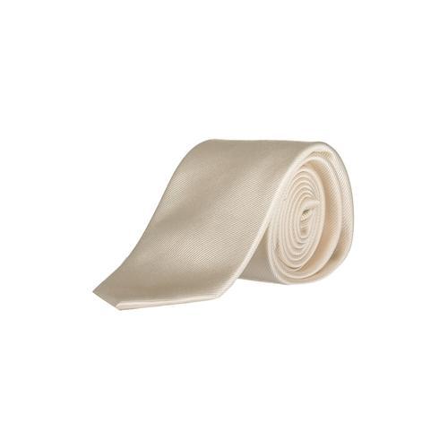 Große Größen Seiden-Krawatte Herren (Größe One Size, creme) | JP1880 Krawatten | Seide, 7,5 cm breit