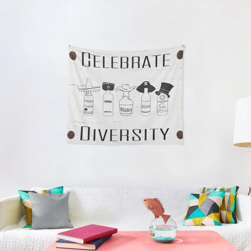 CELEBRATE DIVERSITY Wall Tapestry