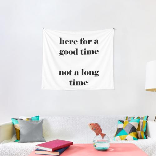 Here For a Good Time Not a Long Time Wall Tapestry