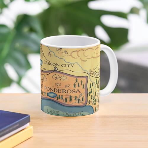 Map of The Ponderosa from 'Bonanza' Mug