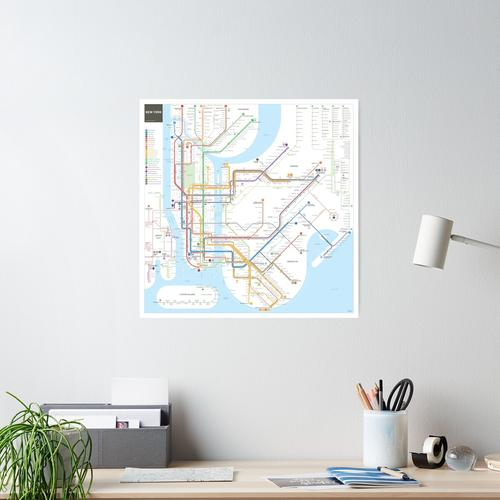 New York City subway map Poster