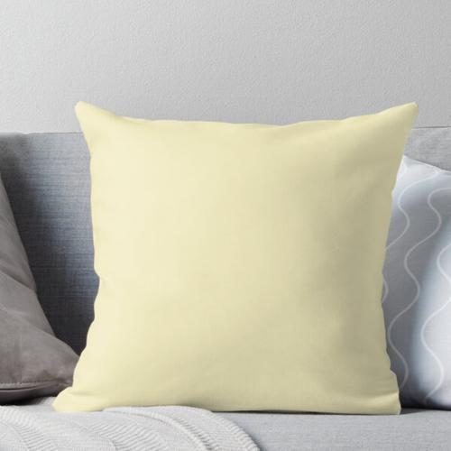Cheapest Solid Pale Lemon Chiffon Color Throw Pillow