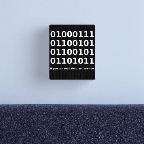 Binary / Binary Code Binary Code Funny T-Shirt Canvas Print