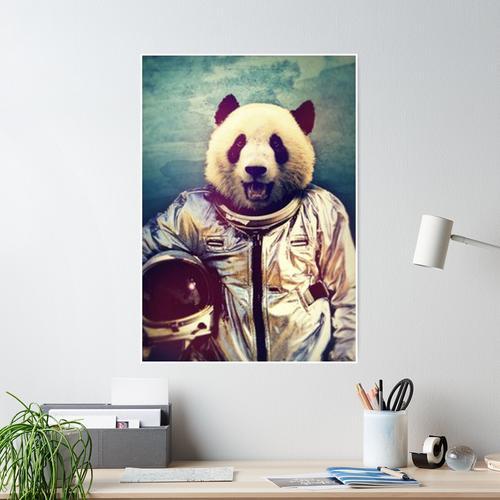 Panda astronaut poster Poster